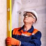 Man in builder uniform. — Stock Photo
