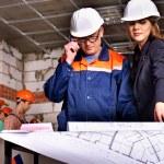 Business woman in builder helmet . — Stock Photo #35334815