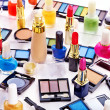 Decorative cosmetics and flower. — Stockfoto