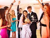 Group people at wedding. — Stock Photo