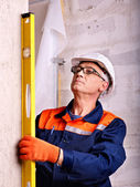 Man in builder uniform. — Stock Photo