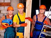 Muži v uniformě tvůrce. — Stock fotografie