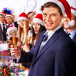 Business people at Xmas party. — Stock Photo