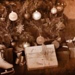 Xmas still life with Christmas tree. — Stock Photo #36641909