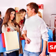 Shopping women at Christmas sales. — Stock Photo