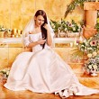 Woman in wedding dress. — Stock Photo