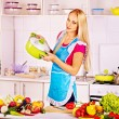 Stock Photo: Woman preparing food