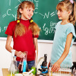 Children in chemistry class. — Stock Photo #38778577