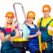 Builders with construction tools. — Stock Photo #38778599