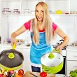 Woman preparing food — Stock Photo #38778687