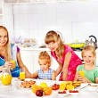 Family breakfast with child — Stock Photo #38778751