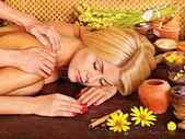 Woman massage . — Stock Photo