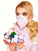 Young woman's got flu — Stock Photo
