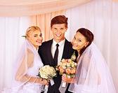 Happy wedding man — Stock Photo