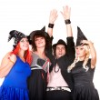 Group of in witch costume. — Stock Photo #3895855