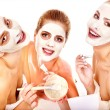 Group women with facial mask. — Stock Photo #39263059