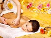 Woman getting massage . — Stock Photo