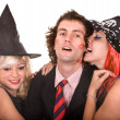 Group of in witch costume. — Stock Photo #3955360