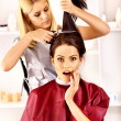 Woman at hairdresser. — Stock Photo #39698815