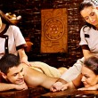 Couple having Ayurvedic spa treatment. — Stock Photo #39698977