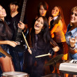 Group people playing guitar. — Stock Photo #39699081