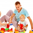 Stock Photo: Family painting