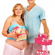 Pregnant womwith man — Stock Photo #40153791