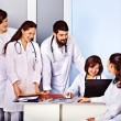 Group of doctors at hospital — Stock Photo #40153811