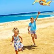 Children flying kite — Stock Photo #40154123