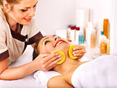 Woman getting facial massage — Stock Photo