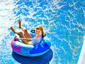 Children at aquapark. — Stock Photo