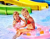 Children at aquapark — Stock Photo