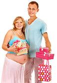 Zwangere vrouw met man — Stockfoto