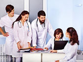 Group of doctors at hospital — Stock Photo