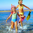 Children playing on beach. — Stock Photo #40598057