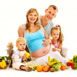 Family pregnant woman — Stock Photo #41016839
