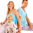 Pregnant womwith family. — Stock Photo #41017127