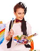 Kunstenaar vrouw — Stockfoto