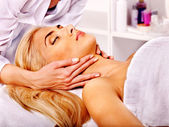 Woman getting  facial massage . — Foto de Stock