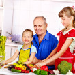 Family cooking at kitchen. — Stock Photo #42854229