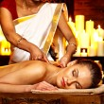Woman having Ayurvedic spa treatment. — Stock Photo #44264451