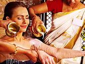 Woman having Ayurvedic spa treatment. — Stock Photo
