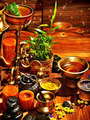 Ayurvedic spa massage still life — Stock Photo