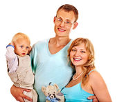 Pregnant woman with family. — Stock Photo