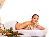 Woman getting spa treatment . — Stock Photo