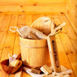 Still life with sauna accessories. — Stock Photo #46954475