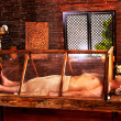 Постер, плакат: Man having Ayurveda sauna