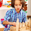 Child playing bricks. — Stock Photo #47344431