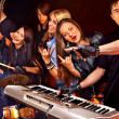 Band playing musical instrument. — Stock Photo