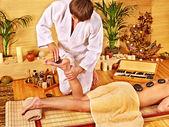 Woman getting feet massage. — Stock Photo